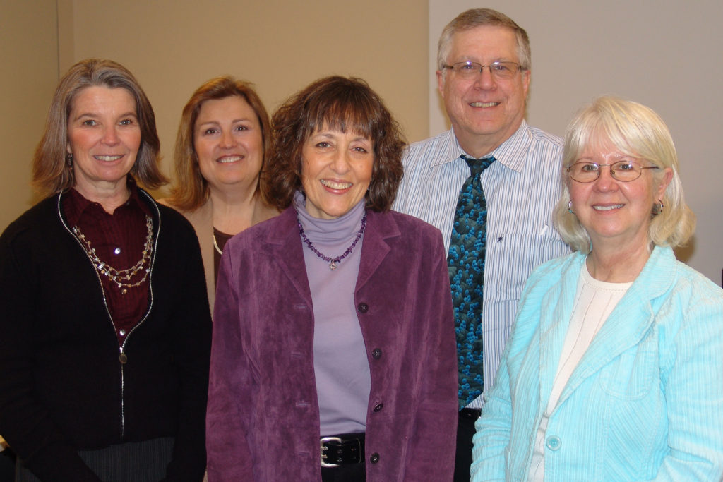 From left to right: Deb Krahn (Marshfield Clinic), Kristine Hayden (UW-CTRI), Joyce Smith (UW-Eau Claire), Richard Thoune (Eau Claire City-County Health Department) and Julie Marlette (Tobacco-Free Partnership of Eau Claire County) worked to help Eau Claire-area healthcare providers improve tobacco treatment services. Other task force members included Dianne Robertson (Chippewa Valley Free Clinic), Terri Owens and Ann Johnson (both from Luther Midelfort Mayo Health System), and Greg Spindler (Sacred Heart Hospital).