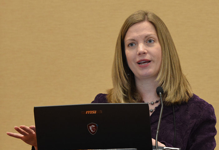 SRNT Secretary-Treasurer and UW-CTRI Associate Director of Research Megan Piper made two presentations of research findings in Baltimore.