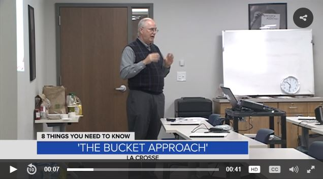 Dr. Bruce Christiansen discusses the Bucket Approach with the CBS News affiliate in La Crosse, Wisconsin.