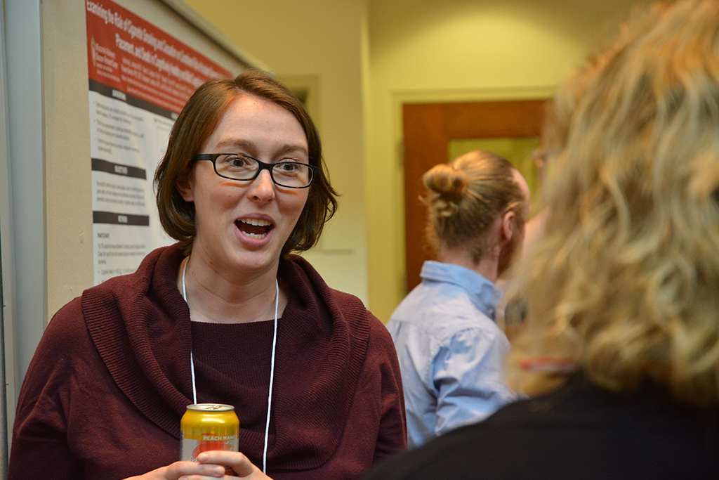 Dr. Adrienne Johnson presents her poster