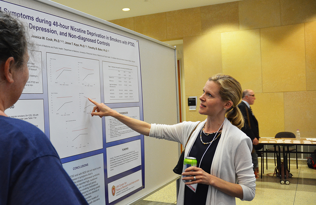 Dr. Jess Cook presents her poster