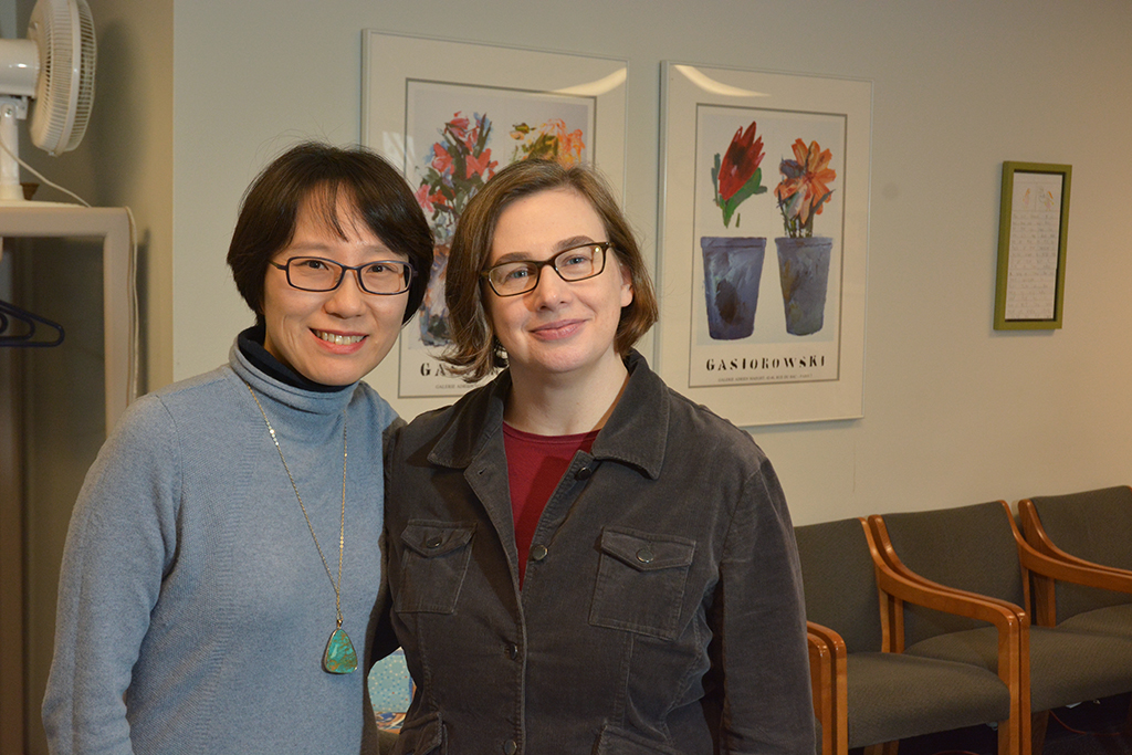 Dr. Nayoung Kim (left) nominated her mentor Dr. Danielle McCarthy for the award.