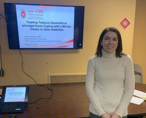 UW-CTRI Outreach Specialist Allison Gorrilla