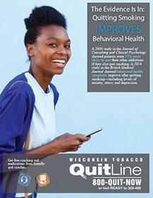 Behavioral health & Wisconsin Tobacco Quit Line - woman
