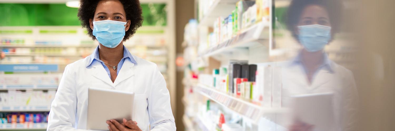 Pharmacist in hospital